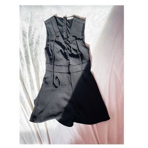 Urban Outfitters Black Tie-Up Romper